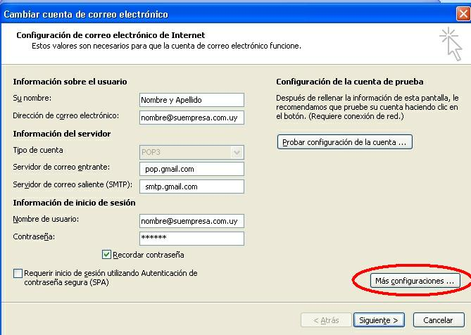 paso 3 configuracion MOutlook